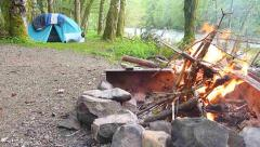 Great Outdoors Campsite Time Lapse Stock Footage