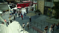 Stock Video Footage of Dolby Theatre forecourt and Walk of Fame