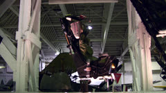 Ejector seat in aviation museum Stock Footage