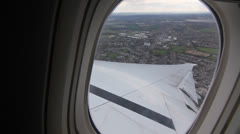 Flying out of Heathrow Airport, UK. Stock Footage