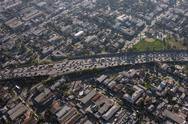 Stock Photo of congested la freeway aerial