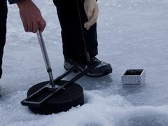 Assault ice fishing Stock Photos