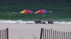 Beach Umbrellas Stock Footage