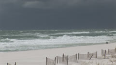 Storm approaching Sandy Beach Stock Footage