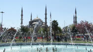 Stock Video Footage of Istanbul Blue Mosque By Day