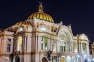 Palacio de Bellas Artes at Night Stock Photos