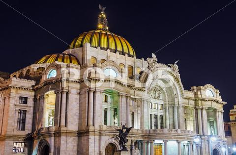 Stock photo of Palacio de Bellas Artes at Night