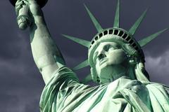 Statue of liberty isoalted on white Stock Photos