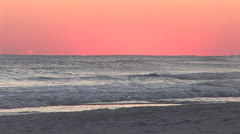 Beach after sunset Stock Footage