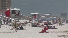 Beach Lifeguard Stands Stock Footage
