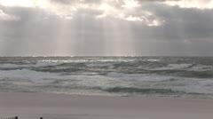 Sun Rays over Beach Stock Footage