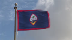 Guam Flag Stock Footage