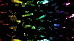 Looping Rainbow Zodiac Scorpio Symbols Falling Stock Footage