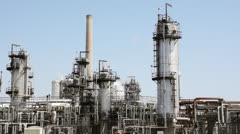 Lubricants Refinery Stock Footage