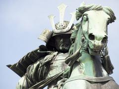 samurai worrior - stock photo