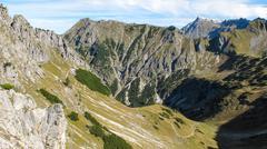 alpine landscape close to oberstdorf - stock photo
