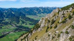 valley near oberstdorf - stock photo