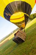 Starting hot-air balloon Stock Photos