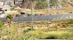 Israeli West Bank barrier Stock Footage