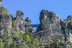 Stock Photo of bastei at elbsandsteingebirge saxony germany
