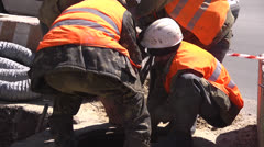 Workers pull Stock Footage
