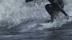 Extreme Slow Motion Surfing Stock Footage