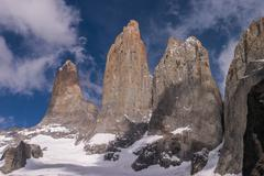 Stock Photo of torres del paine in chilean national park detail