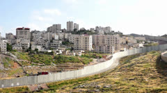 Israeli West Bank fence Stock Footage