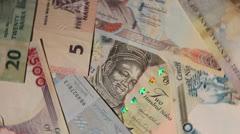 Nigerian naira background rotating - stock footage
