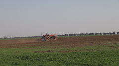 Seeding and tractor. Plowing and sowing.Spring sowing. Stock Footage