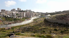 Stock Video Footage of Israeli West Bank wall