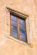 Old ancient window made of wood Stock Photos