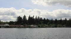 Waterfront Living in Lake Oswego Oregon Moving Clouds Timelapse 1920x1080 Stock Footage