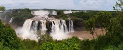 The iguacu falls in argentina brazil in the middel of the rainforrest Stock Photos