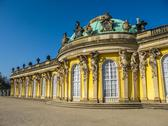 Stock Photo of sanssouci at crystal blue sky