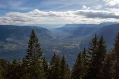 Merano from above - stock photo