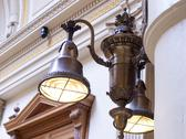 Stock Photo of old bronze light fixture