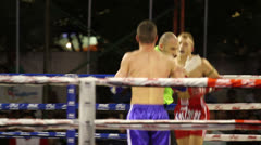 Lively Muay Thai Kick Boxing Action Stock Footage