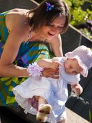 Mother and doughter Stock Photos