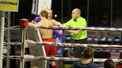 Two Tired Muay Thai Kick Boxers Stock Footage