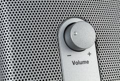 Loudspeaker with volume control - stock photo