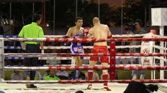 Muay Thai Kick Boxing Slew Foot Stock Footage