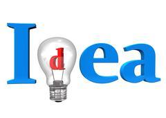 Idea bulb Stock Illustration