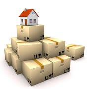 house moving boxes - stock illustration