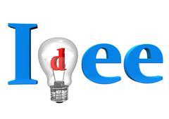 idea bulb - stock illustration