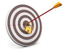 house bullseye target - stock illustration