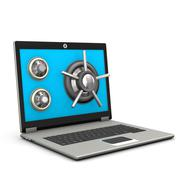 safe laptop - stock illustration