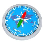 compass quality service - stock illustration