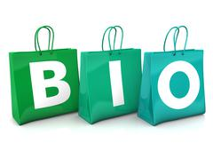 shopping bags bio - stock illustration