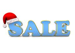 santa cap sale - stock illustration